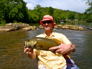 Big Smallie on a Tuckasegee River Float Trip 2011