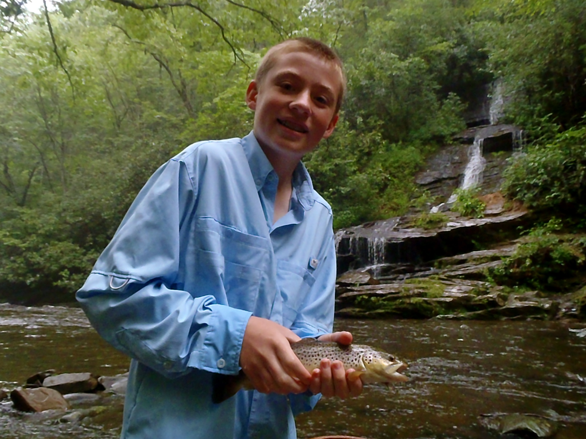 Guided fly fishing trips in bryson city nc hookers fly for Deep creek lake fishing