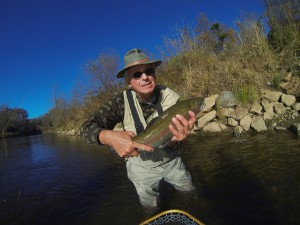 Large Rainbow on a Tuckasegee Guide Fly Fishing Trip