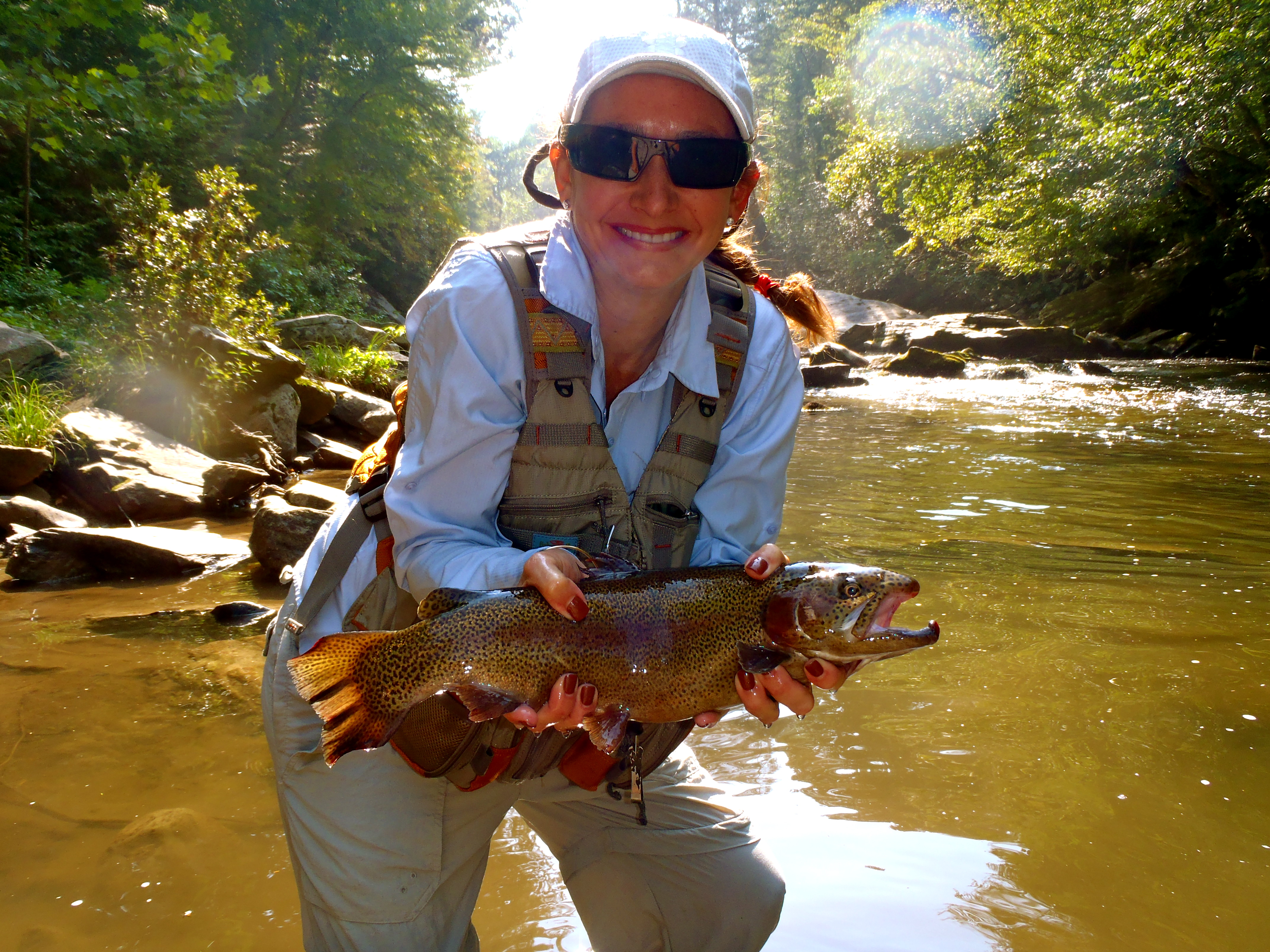 Guided fly fishing in bryson city nc hookers fly shop for Fishing in nc