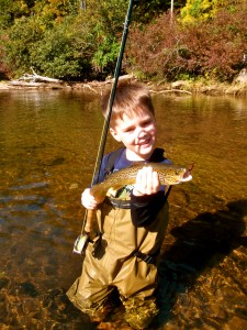 Jadon Cole fishing the Tuckasegee