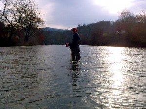 Karl B. working a run on the Tuckasegee DH