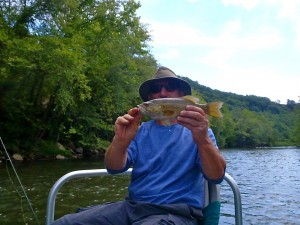 Dale with a nice Tuckasegee Smallie