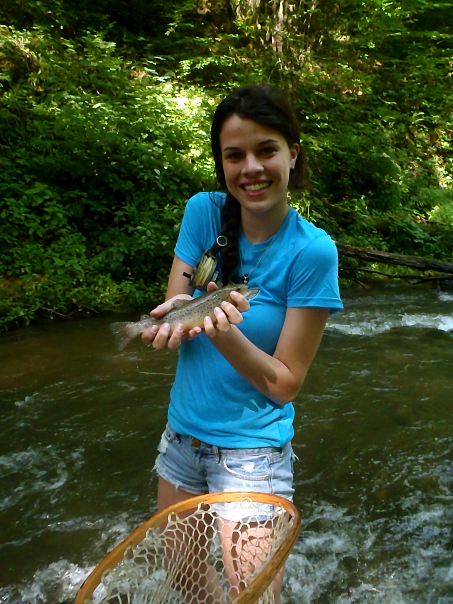 Guided fly fishing trips in western north carolina for Fly fishing cherokee nc