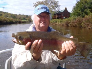 Monster Rainbow on the Tuckasegee Delayed Harvest Fall 2012