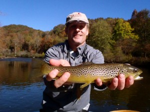 Large Brown on a Tuckasegee Float Trip