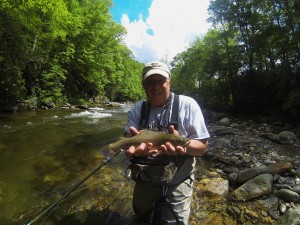 Happy Client on the West Fork of the Pigeon