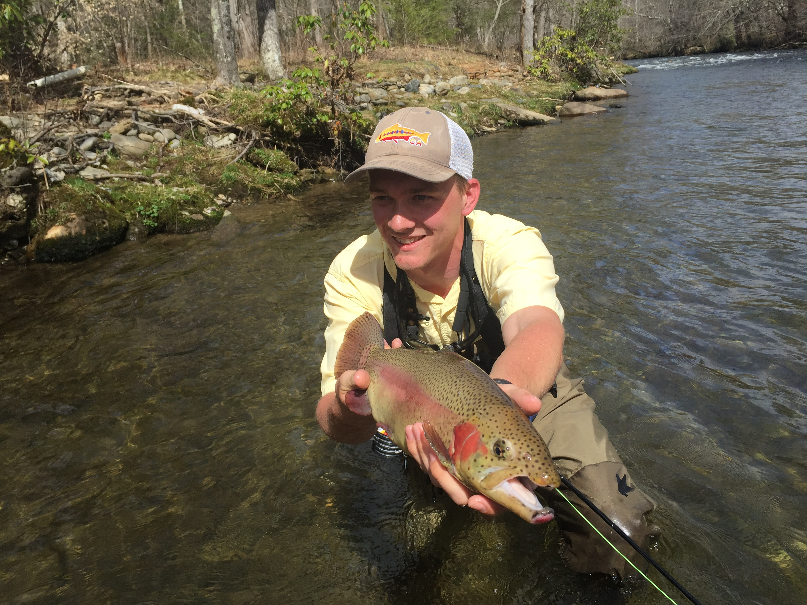 Guided fishing trips in cherokee nc hookers fly shop for Cherokee trout fishing